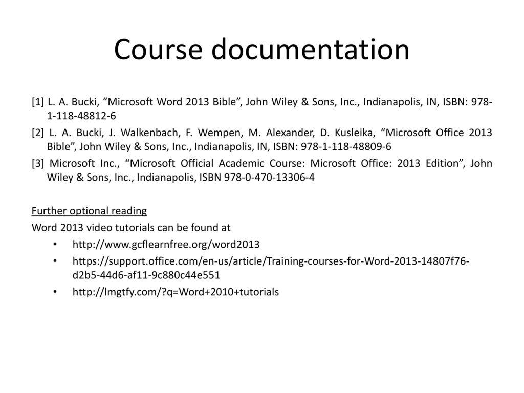 Applied informatics ppt download course documentation 1 l a bucki microsoft word 2013 bible john wiley baditri Choice Image